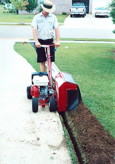 Bed Edger in use